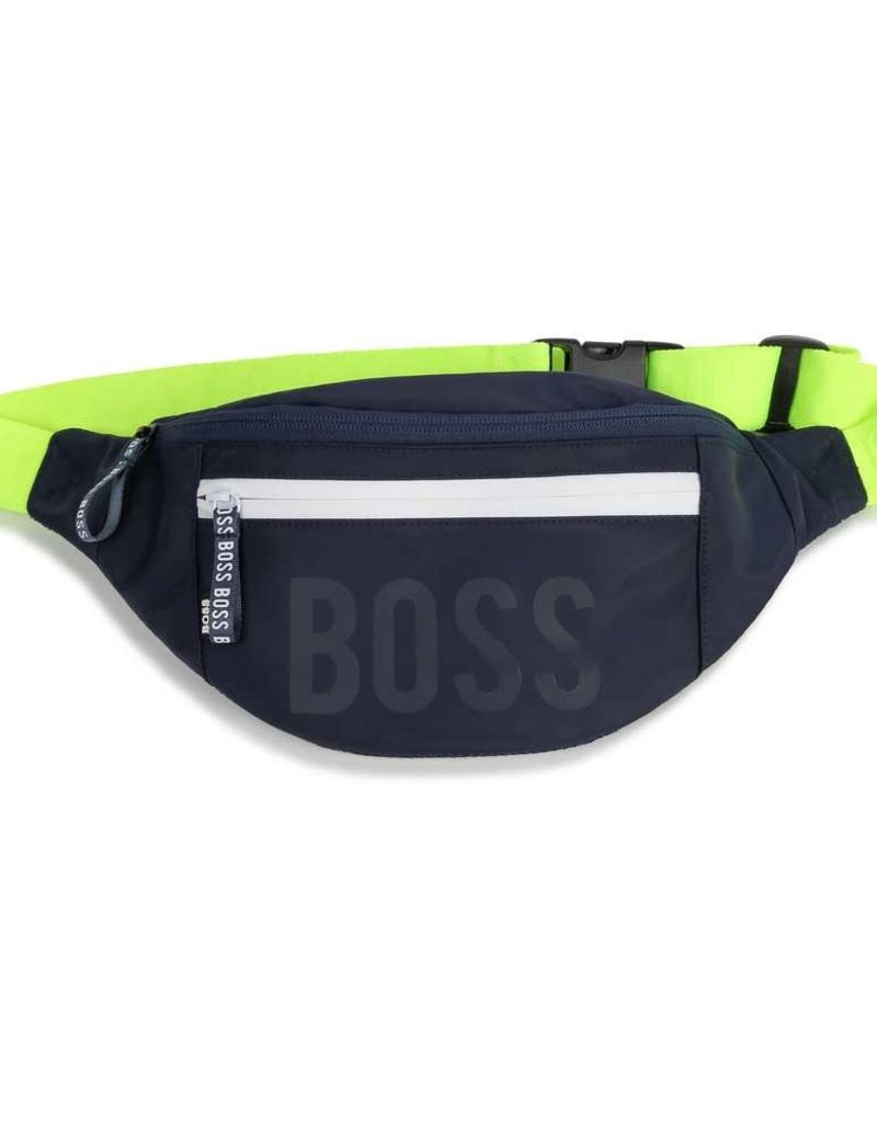 Boss heup tas donker blauw