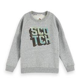 Scotch&Soda  grijze sweater artwork