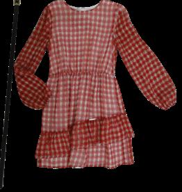 Liu Jo jurk ruit rood wit