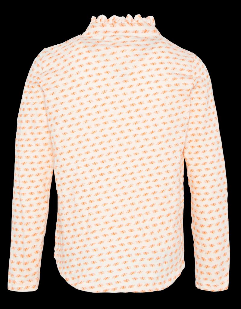 Ao76 blouse ecru ruches