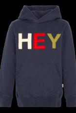 Ao76 sweater donker blauw kap HEY