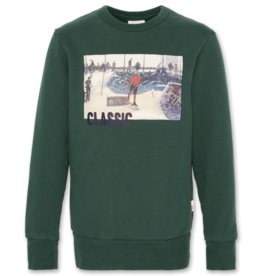 Ao76 sweater donker groen classic