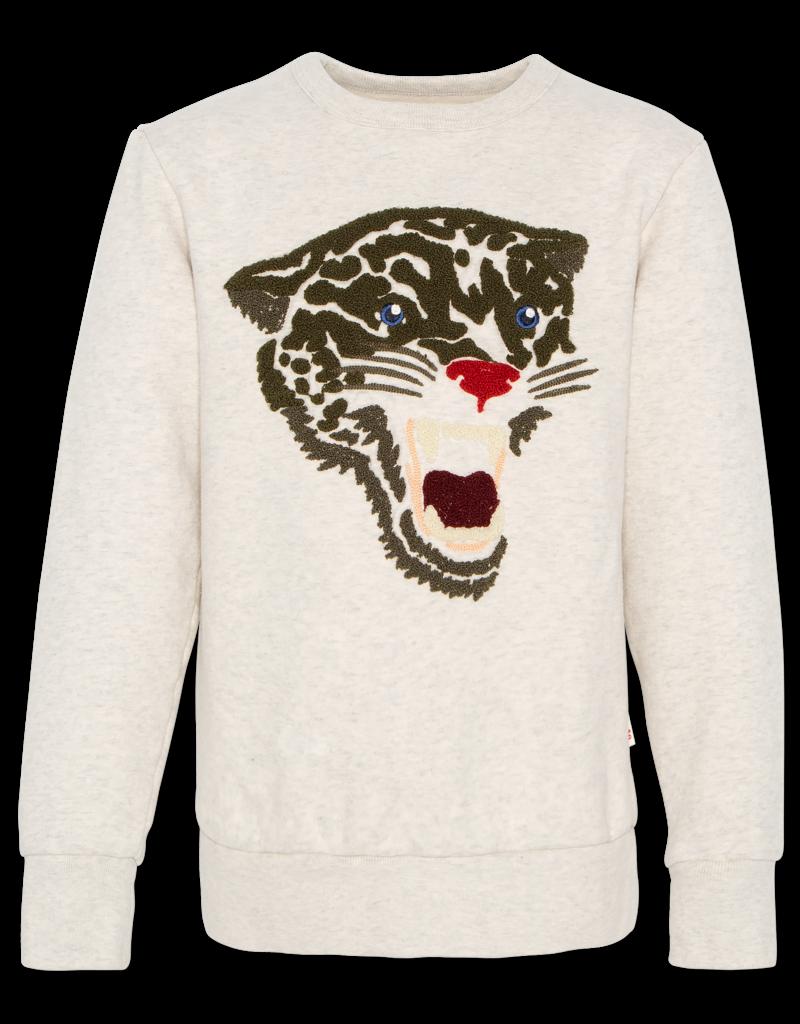 Ao76 sweater ecru tijger