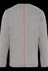 Ao76 t-shirt donker  grijs fluo space