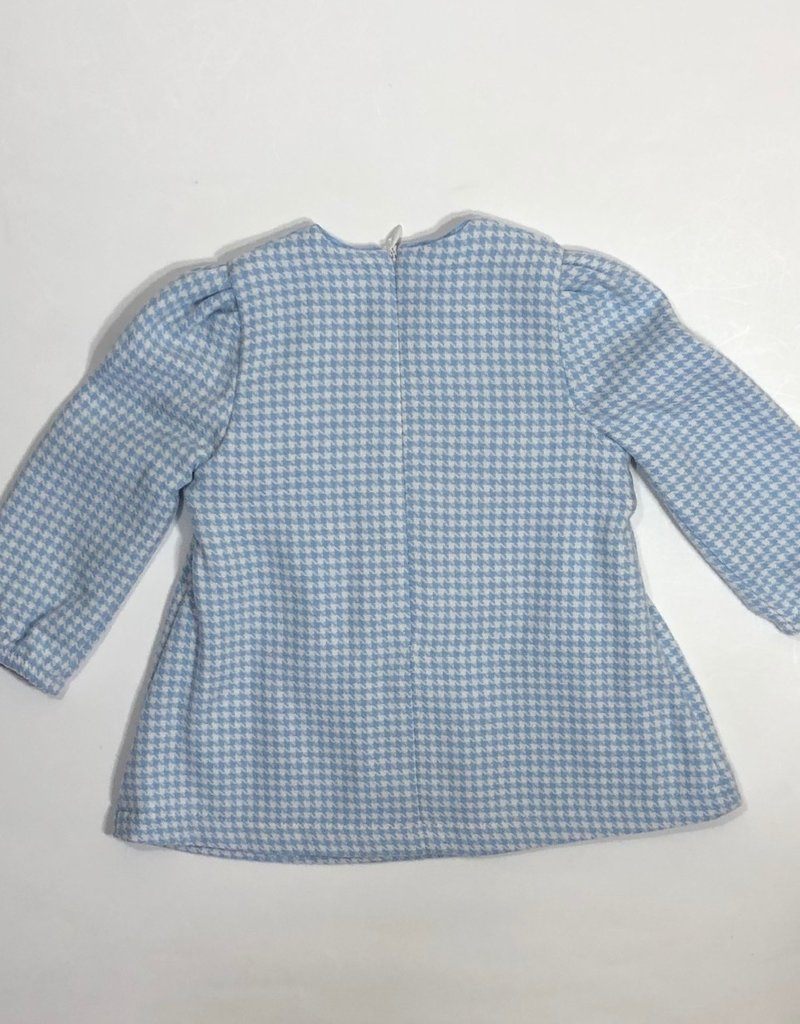Blue Bay jurk geeske ruitje blauw wit