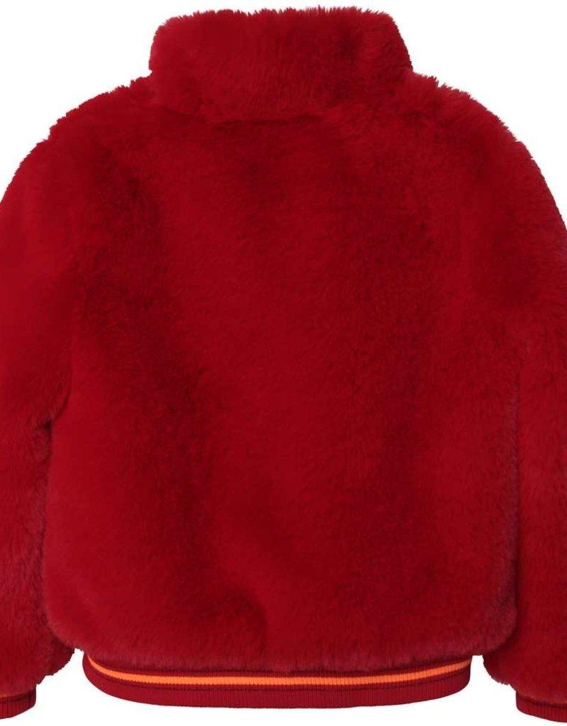 Carrement beau jas teddy rood