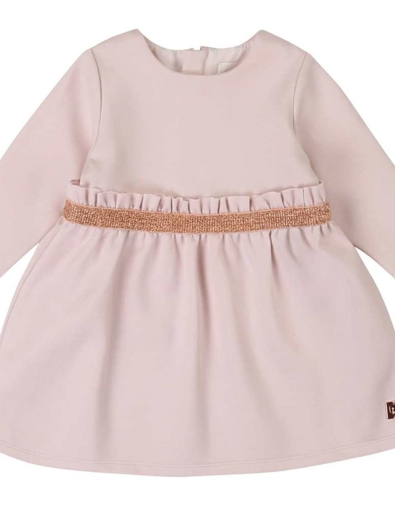 Carrement beau jurk rose frons in taille