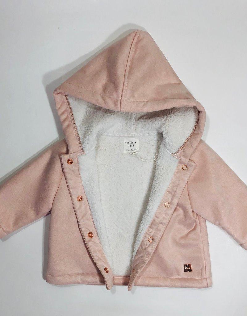 Carrement beau jas rose teddy wit