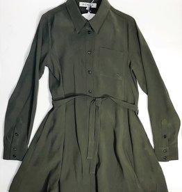 Scapa doorknoop jurk donker groen
