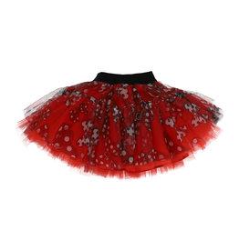 Monnalisa rok tule rood zwart olijfje