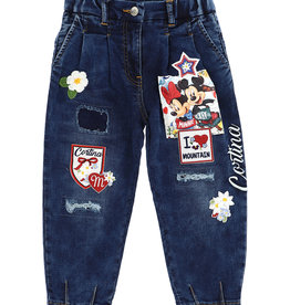Monnalisa broek jeans mickey minnie