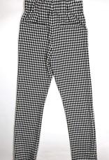 Elsy geruite broek zwart wit