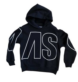 MSGM zwarte hoodie grote letters wit