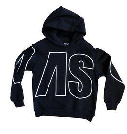 MSGM zwarte hoodie grote letters wit