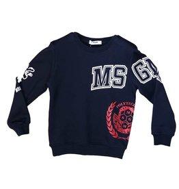 MSGM sweater donkerblauw wit msgm
