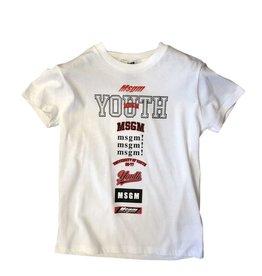 MSGM T-shirt wit youth zwart
