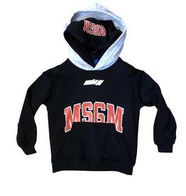 MSGM hoodie zwart kap grijs