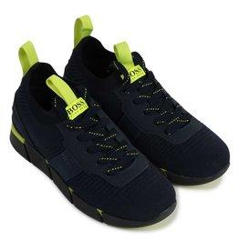 Boss sneakers donkerblauw wasbaar