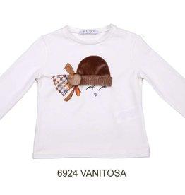 Elsy t-shirt ecru met muts vanitosa