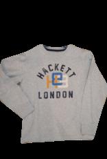 Hackett T-shirt grijs logo en London