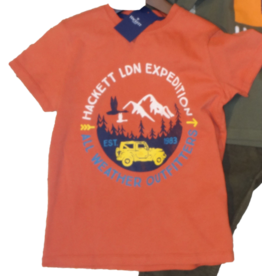 Hackett T-shirt roest expeditie