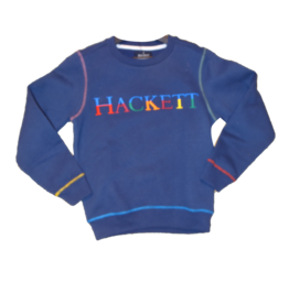 Hackett sweater donkerblauw logo