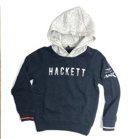 Hackett hoodie donkerblauw grijze kap