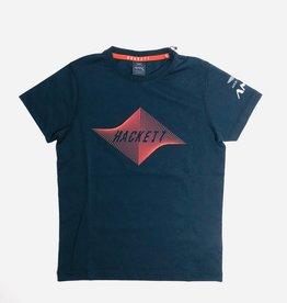 Hackett T-shirt blauw rode strepen