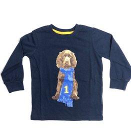 Hackett T-shirt blauw met hond