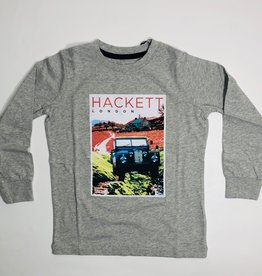 Hackett T-shirt grijs jeep