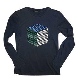 Antony Morato T-shirt donker blauw kubus