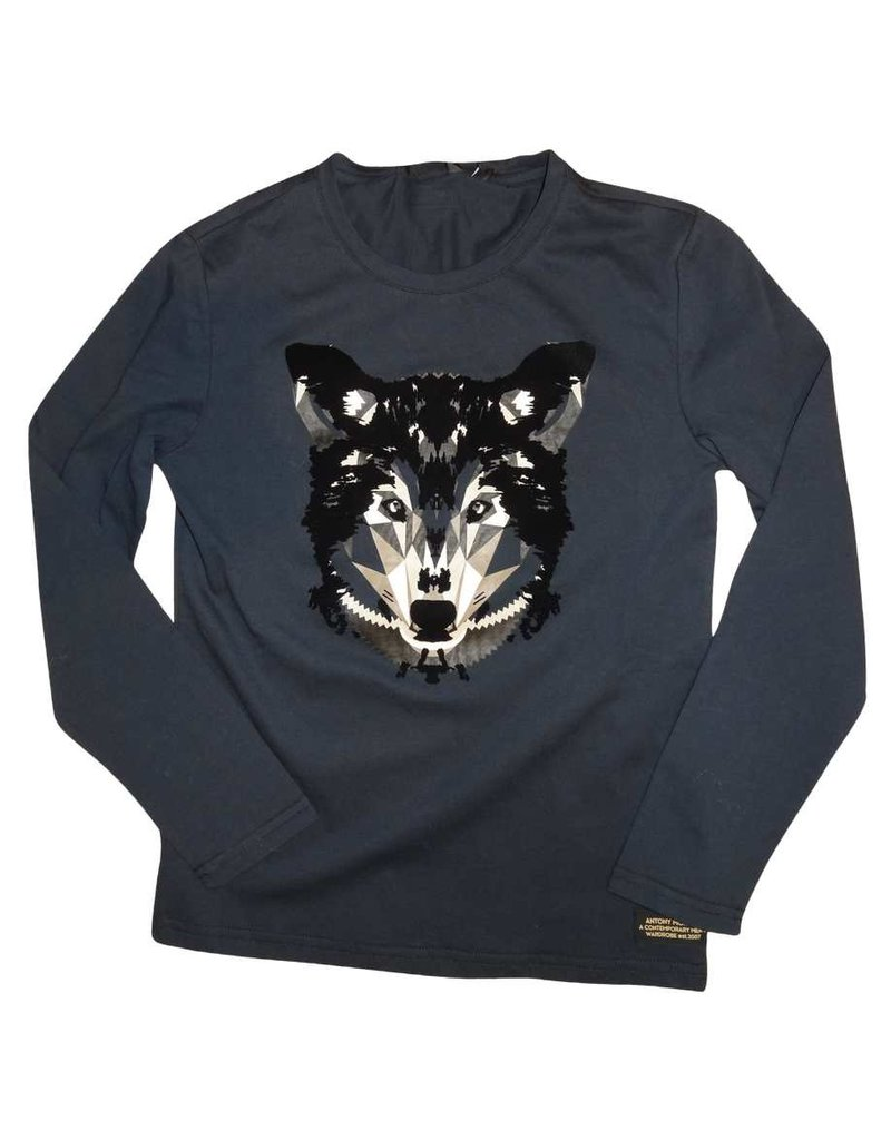 Antony Morato T-shirt wolf donker blauw