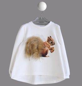 Special Day T-shirt ecru eekhoorn