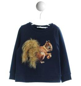Special Day sweater donker blauw eekhoorn