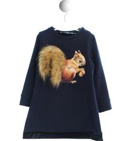 Special Day jurk lm blauw eekhoorn