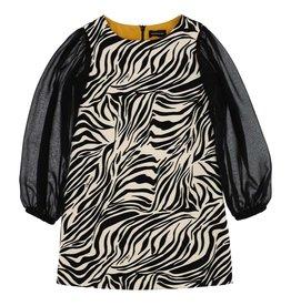 Monnalisa jurk zwart wit zebra