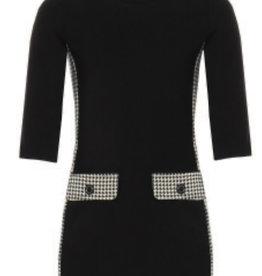 Kocca jurk zwart met ruitje zwart wit