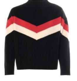Kocca trui zwart rood ecru streep