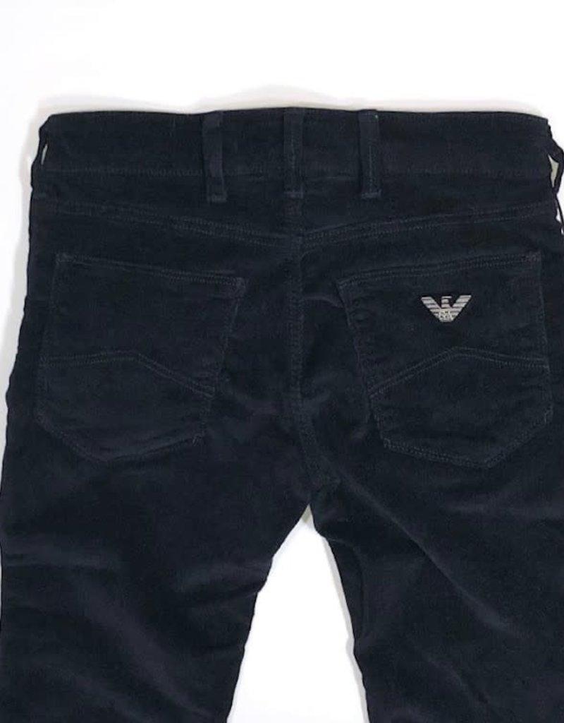 Armani rib broek blauw 5-pocket