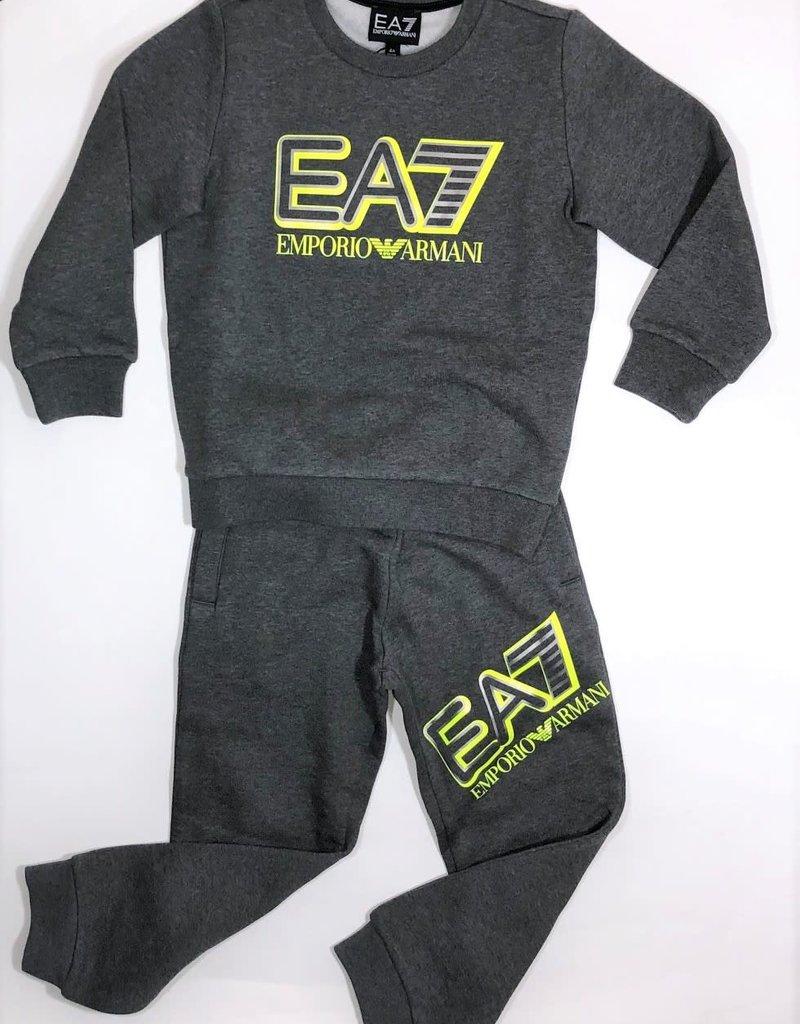 Armani/EA7 jogging broek grijs fluo geel