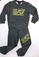 Armani/EA7 sweater grijs letters fluo geel