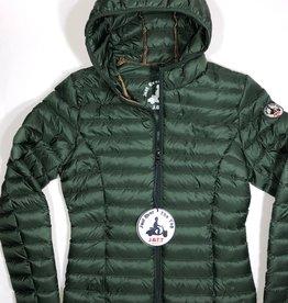 Jott dons jas met kap donker groen