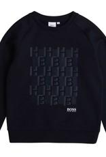 Boss sweater donker blauw 3D logo