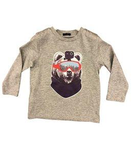 Il Gufo t-shirt beer grijs