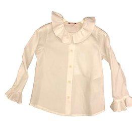 Il Gufo blouse ecru kraagje en manchet