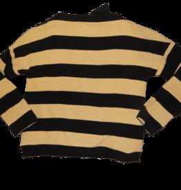 Elsy trui streep zand zwart