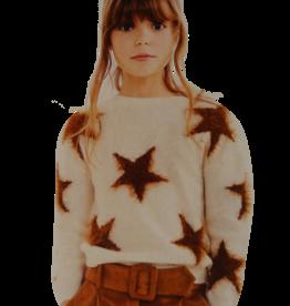 Elsy trui ecru met sterren