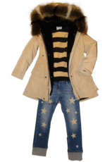 Elsy blauwe jeans broek met sterren