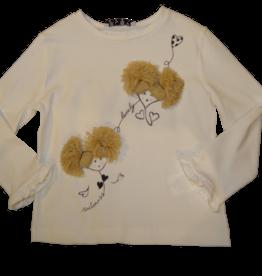 Elsy t-shirt pompom zand