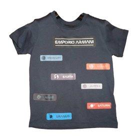 Armani T-shirt navy logo's